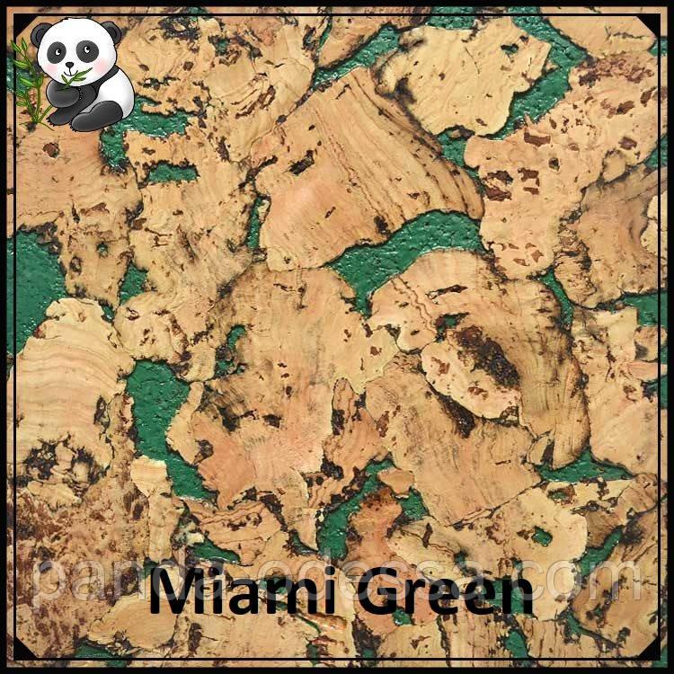 Пробковые панели (обои) Miami Green TM Egen 600*300*3 мм