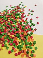 Сахарная посыпка в форме кленовых листьев (50 грамм)