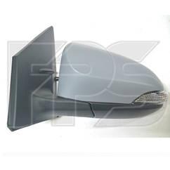 Левое зеркало Тойота Ярис электрический привод; с обогревом; под покраску; выпуклое; 7 pin с указ. поворота; б