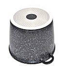 [ОПТ] Глубокая Кастрюля с крышкой- Литой алюминий- Мраморное  покрытие 18см, фото 2