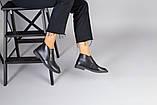 Демісезонні шкіряні лофери чорні на чорній підошві, фото 10