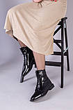 Демісезонні чорні черевики шкіра наплак, фото 4