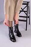 Демісезонні чорні черевики шкіра наплак, фото 8