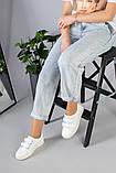 Женские белые кеды на липучках, фото 6