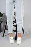 Женские белые кеды на липучках, фото 10