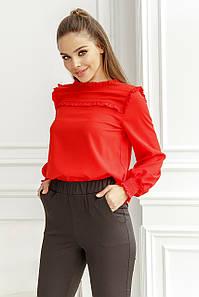 Женская блуза с рюшиками Красный