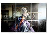 Модульная картина IDEAPRINT Девушка с подзорной трубой
