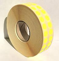 Этикетка самоклеящаяся круглая 10 мм желтая (10000 шт)