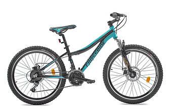 """Велосипед Crossride Cleo 24"""" 13"""" Черно/Бирюзовый"""