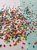 Сахарная посыпка для паски разноцветные звёзды (50 грамм)