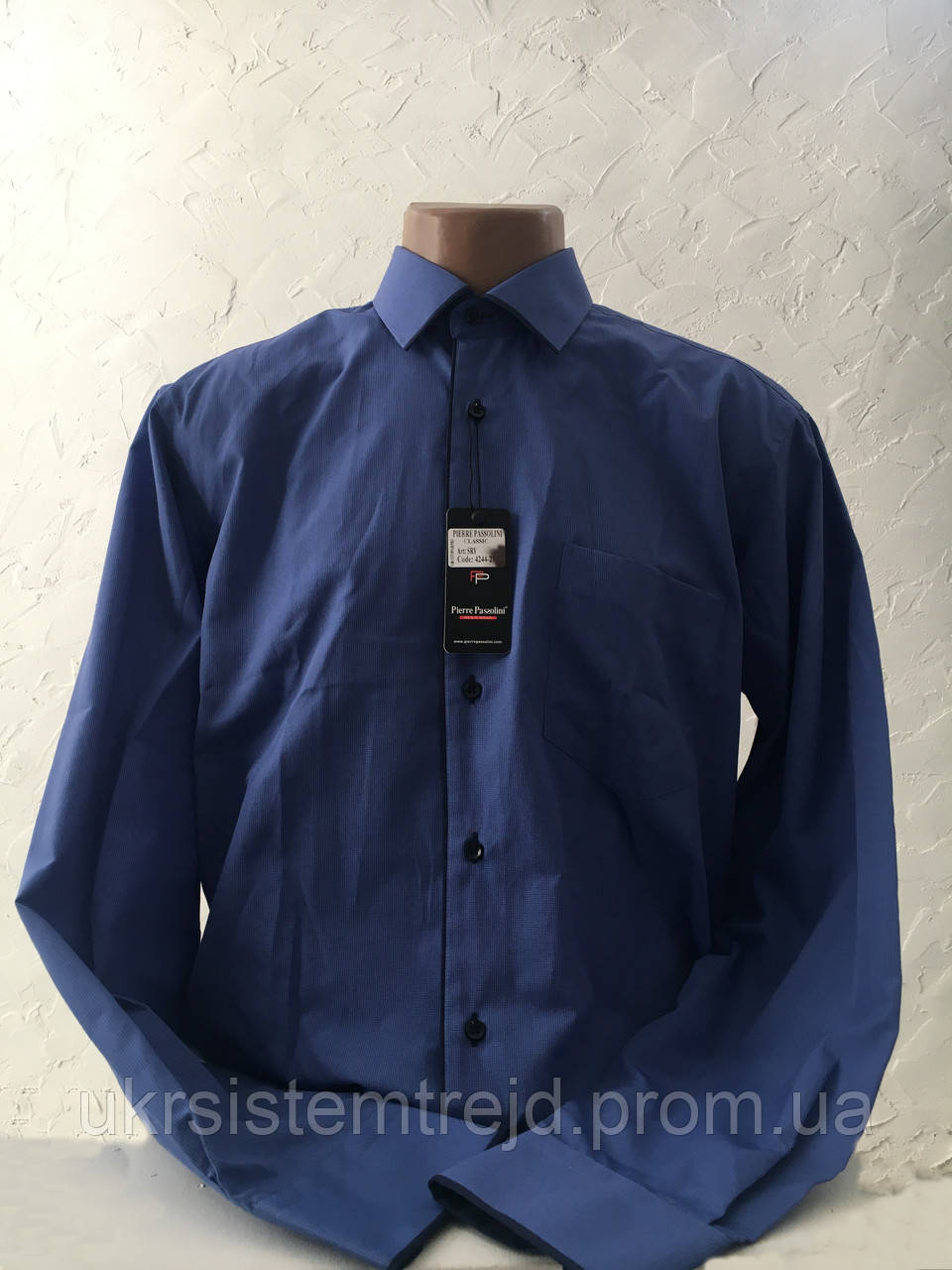 Рубашка мужская  PIERRE PASSOLINI мелкая клетка