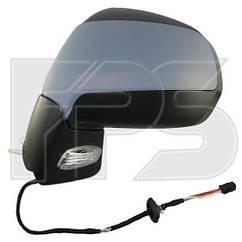 Правое зеркало Пежо 3008 электрический привод; с обогревом; выпуклое; с указ. поворота; без подсветки с датчик