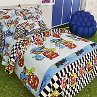 Детское постельное белье полуторное односпальное TM Krispol 150*220 Тачки Маквин 166805 с