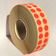 Этикетка самоклеящаяся круглая 10 мм красная (10000 шт)