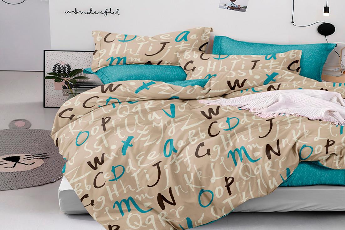 """Комплект постельного белья из ранфорса ТМ """"Ловец снов"""", Алфавит"""