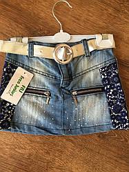 Красивая юбка для девочки с джинса