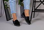 Женские туфли из черной замши, фото 3