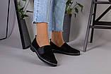 Женские туфли из черной замши, фото 4