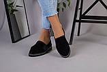 Женские туфли из черной замши, фото 5