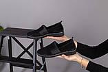 Женские туфли из черной замши, фото 8