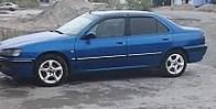 Дефлекторы окон, ветровики \ Peugeot 406 4d 1995-2000 (+OT) \ Пежо 406 \  RACING