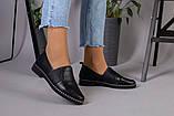 Женские туфли из черной кожи, фото 2