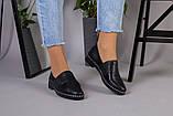 Женские туфли из черной кожи, фото 3