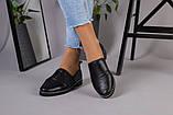 Женские туфли из черной кожи, фото 4