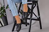 Женские туфли из черной кожи, фото 7