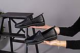 Женские туфли из черной кожи, фото 8