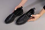 Женские туфли из черной кожи, фото 9