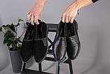 Женские туфли из черной кожи, фото 10