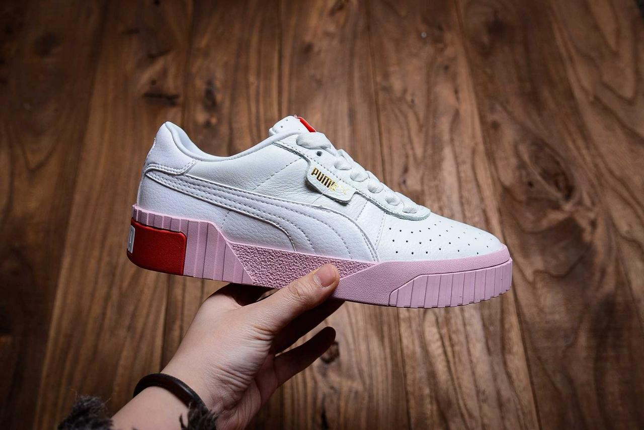 "Кросівки жіночі ""Cali White and Pink Sole"""