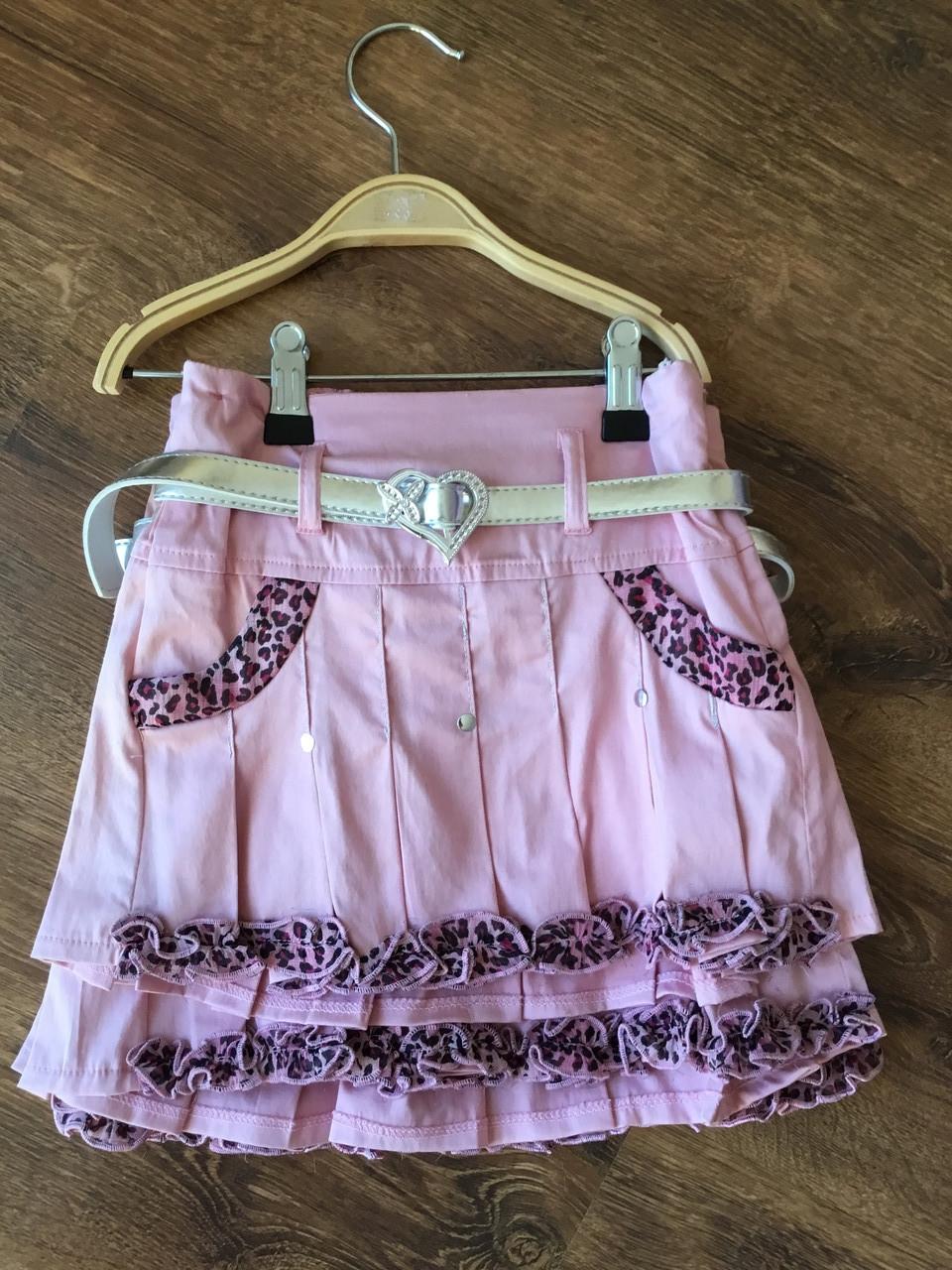 Модная юбка для девочки в бузковом цвете