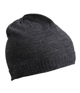 Тонка шапка біні MDGM Темно-Сірий Меланж