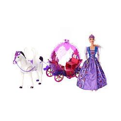 Карета для кукол Милана234A Сказочной экипажс лошадкой куклой звуковыми и световыми эффектами
