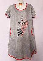Женская котоновая ночная рубашка (р-ры 50-58) оптом со склада в Одессе.