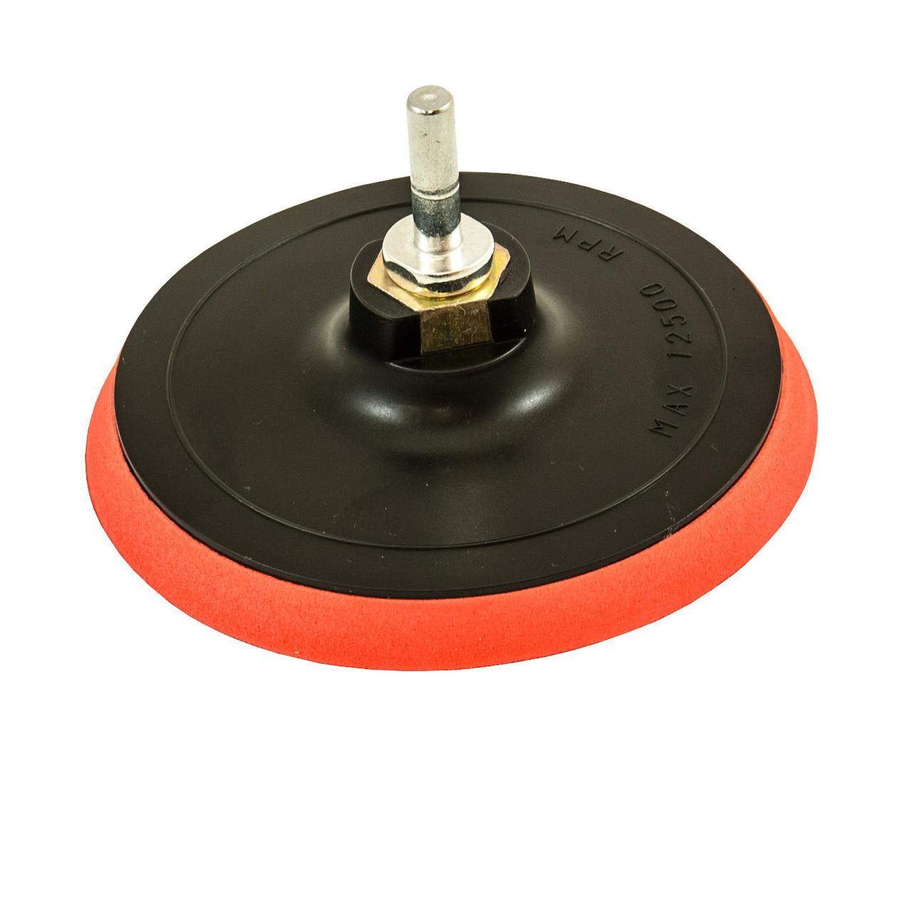 Диск гумовий для дриля з липучкою 125 мм з хвостовиком FASTER TOOLS