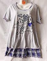 Женская котоновая пижама (р-ры 48-56) оптом со склада в Одессе.