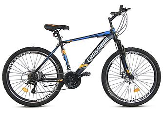 """Велосипед CROSSRIDE SPIDER 26"""" рама 17"""" Черно/Синий"""