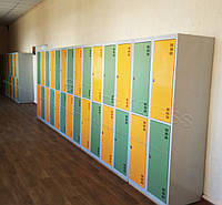 Шкафчики для раздевалок ШМ-4-8-300х900 шкаф для одежды