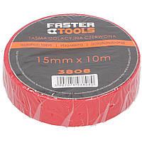 Ізострічка червона 15 мм, 10 м  FASTER TOOLS