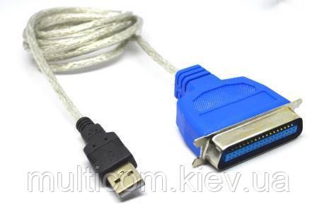 03-02-026. Шнур USB штекер A → штекер LPT (IEEE36 1284), зі шнуром 1,5м