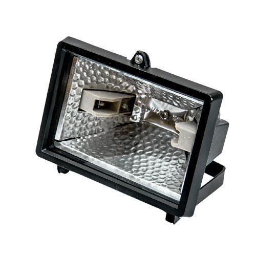 Галогенна лампа чорна 150 Вт  FASTER TOOLS