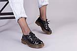Женские черные лаковые туфли, фото 10