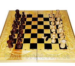 Шахматы ручной работы (шашки, нарды) большие, резные