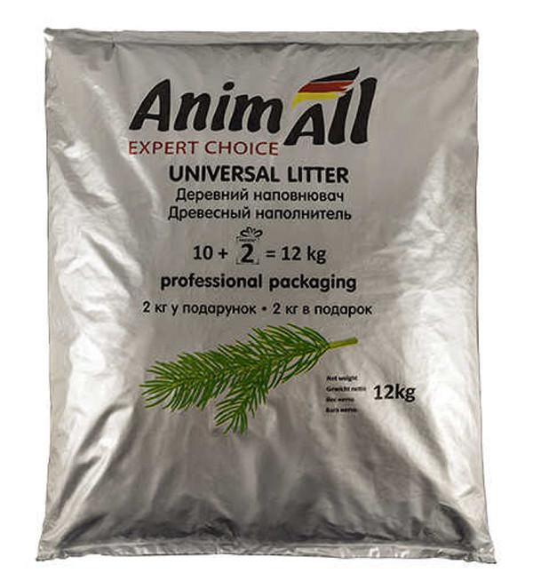 Гранулированный древесный наполнитель для туалета AnimAll 12кг
