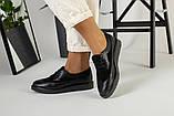 Женские черные туфли на шнурках, фото 2