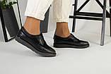 Женские черные туфли на шнурках, фото 3