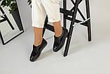Женские черные туфли на шнурках, фото 5